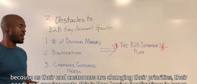 """Screen capture of Michael Haynes presenting """"3 Obstacles To Growing Key Accounts (And How To Overcome Them"""" for LIG TV"""